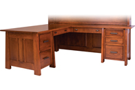 """Freemont Mission 74"""" Corner Desk"""
