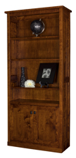 Freemont Mission Bookcase with Bottom Doors