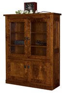 Freemont Mission Bookcase with Top & Bottom Doors