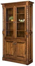 Kincaid Bookcase with Top & Bottom Doors