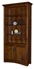 Maysville Bookcase with Bottom Doors