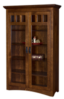 Maysville Bookcase with Full Length Glass Doors