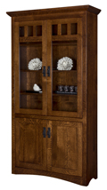 Maysville Bookcase with Top & Bottom Doors