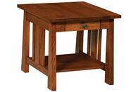 """Open Freemont Mission 24"""" End Table"""