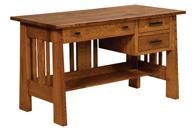 "Open Freemont Mission 54"" Open Pedestal Desk"