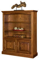 Siloam Bookcase with Bottom Doors