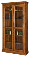 Siloam Bookcase with Full Length Glass Doors