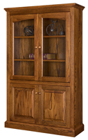 Siloam Bookcase with Top & Bottom Doors
