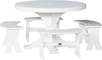 Poly Vinyl 4' Round Table Set 2