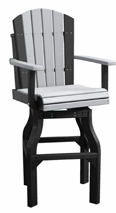 Poly Vinyl Adirondack Swivel Bar Stool