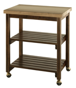 Microwave Serving Cart w/ Butcher Block Top