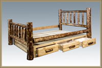 Glacier Country Bed with Storage