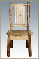 Glacier Country Collection Side Chair with Laser Engraved Design
