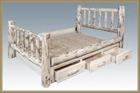 Montana Platform Bed with Storage