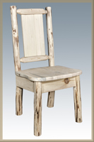 Montana Side Chair with Laser Engraved Design