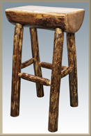 Glacier Country Half Log Bar Stool