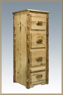 Glacier Country 4 Drawer Filing Cabinet