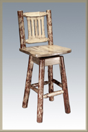 Glacier Country Bar Stool with Swivel