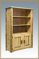Glacier Country Bookcase with 2 Doors Storage