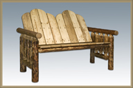 Glacier Country Deck Bench