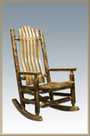 Glacier Country Log Rocker