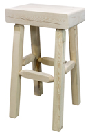 Homestead Half Log Bar Stool