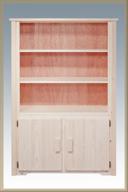 Homestead Bookcase with 2 Doors Storage