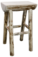 Montana Half Log Bar Stool