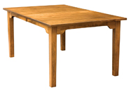 Shaker Mission with Arch Skirt Legged Dining Table