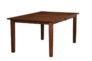 Shaker Mission with Straight Skirt Legged Dining Table