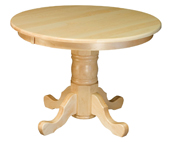 """Single Pedestal 42"""" Round Top Dining Table"""