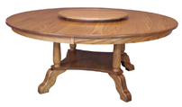 Traditional Round Top Dining Table
