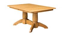 Tuscan Rectangular Double Pedestal Dining Table