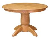 Tuscan Round Single Pedestal  Dining Table