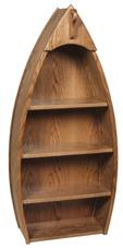 Oak Canoe Bookcase