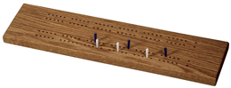 Oak Cribbage Board
