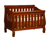 Hoosier Convertible Sleigh Crib
