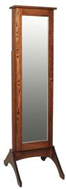 Plain Jewelry Mirror with Sliding Door