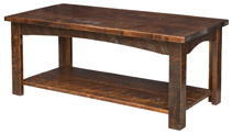 Rough Cut Maplewood Coffee Table