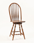Bent Feather Bow Swivel Bar Stool