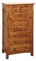 Jumbo Flush Mission Jewelry Armoire
