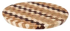 Large End Grain Checkered Lazy Susan