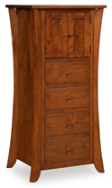 Caledonia 4 Drawer, 2 Door Lingerie Chest