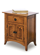 "Shaker Hill 27 & 30"" 2 Door 1 Drawer Nightstand"