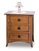 "Shaker Hill 27 & 30"" 3 Drawer Nightstand"