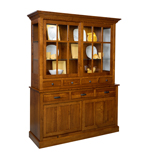 Sherwood Hutch with Wood Doors Base