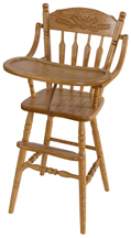 Wheat Post Type High Chair