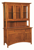 Shaker Hill Hutch with Straight Legs