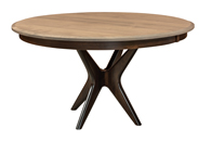 West Newton Pedestal Table with Driftwood Top